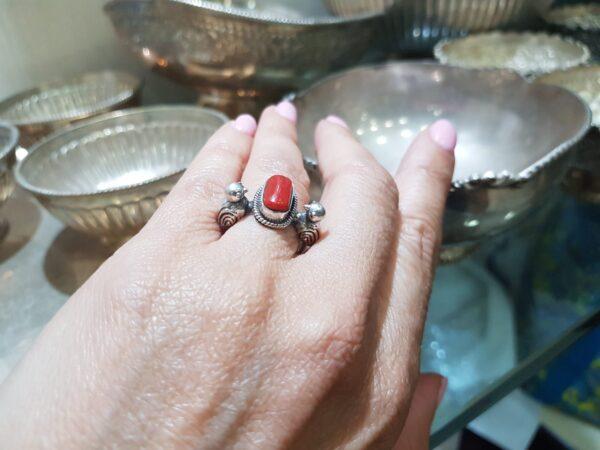 טבעת דואט ציפורים קורל