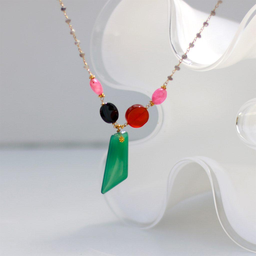 שרשרת הנסיכה (אוניקס ירוק)